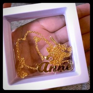 "Jewelry - Personalized Name Pendant ""Anne"" Necklace"